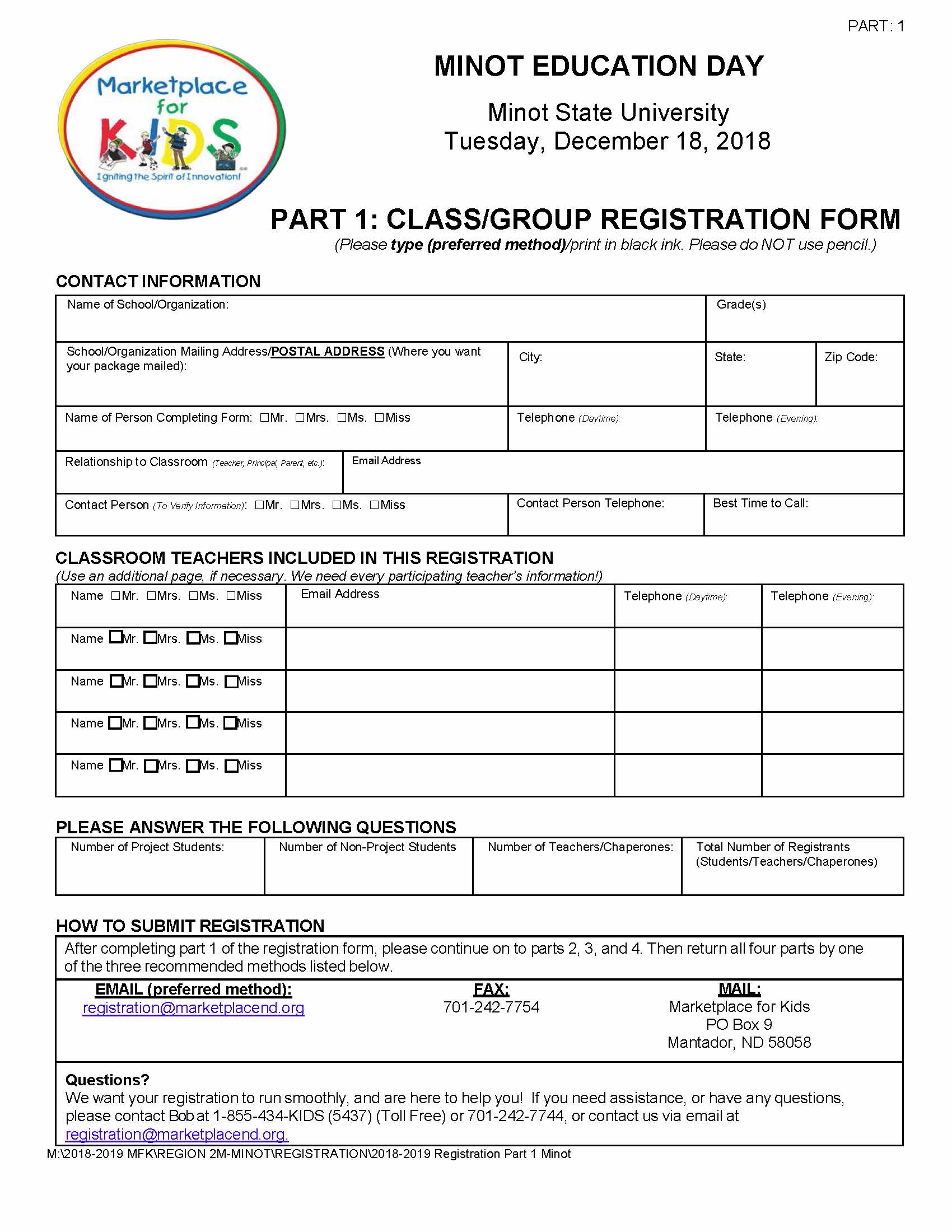 Registration Part 1