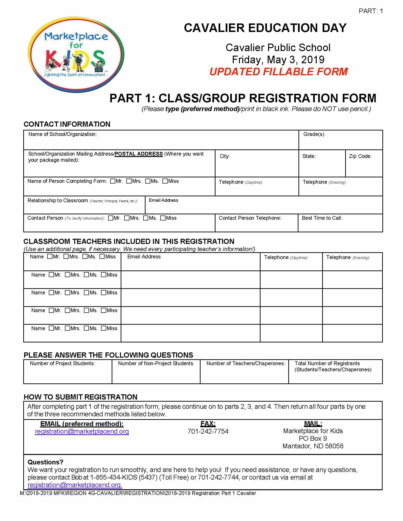 Cavalier Registration Part 1