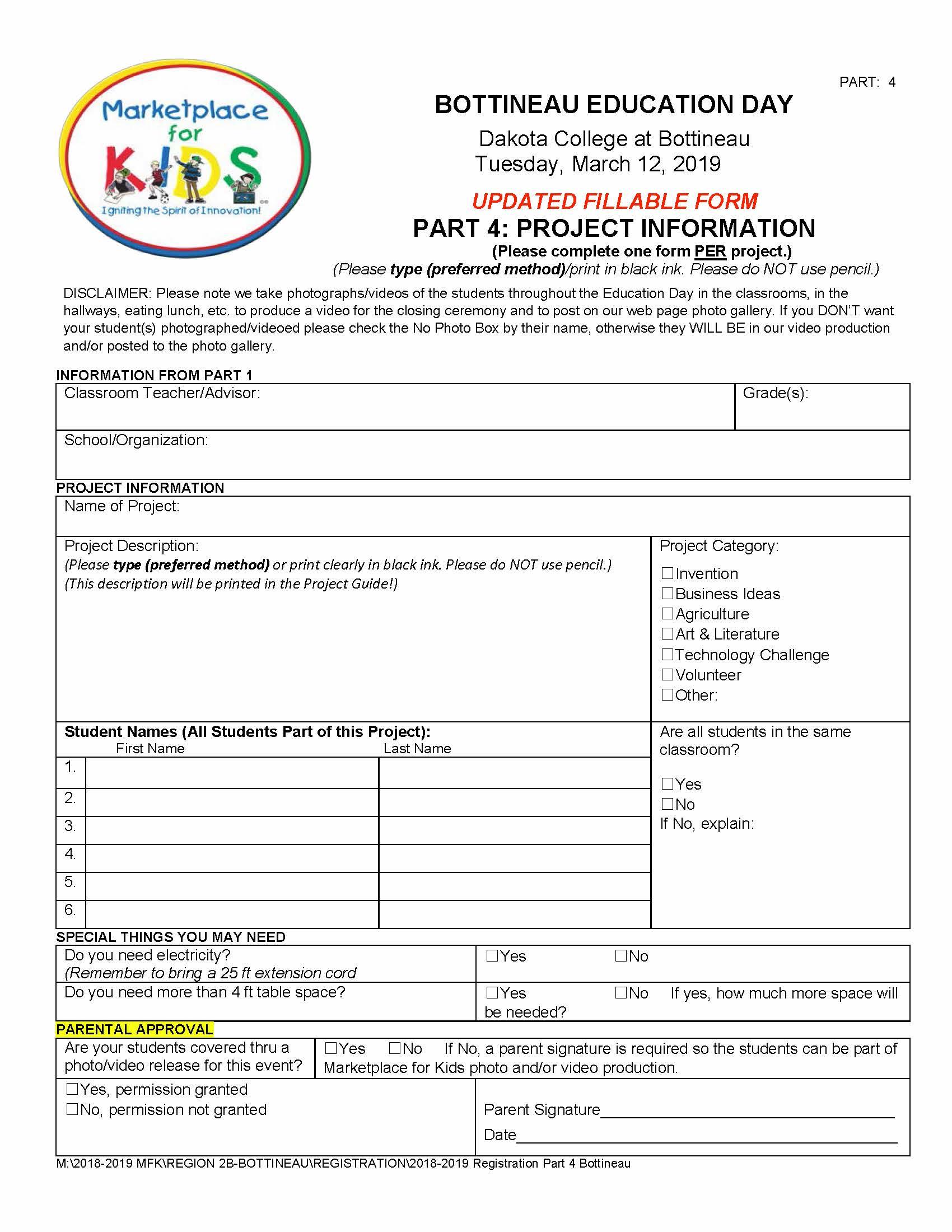 Bottineau Registration Part 4