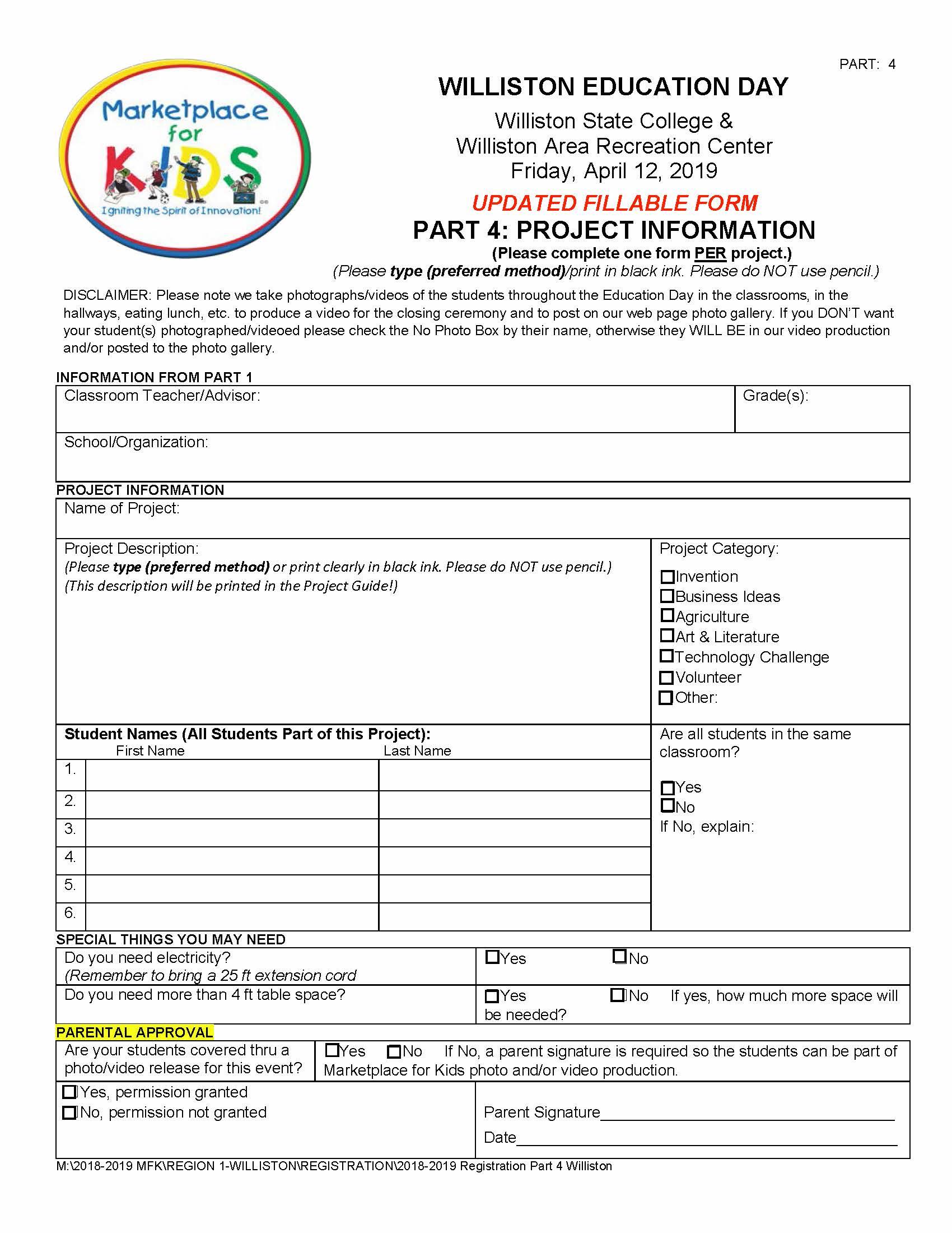 Williston Registration Part 4