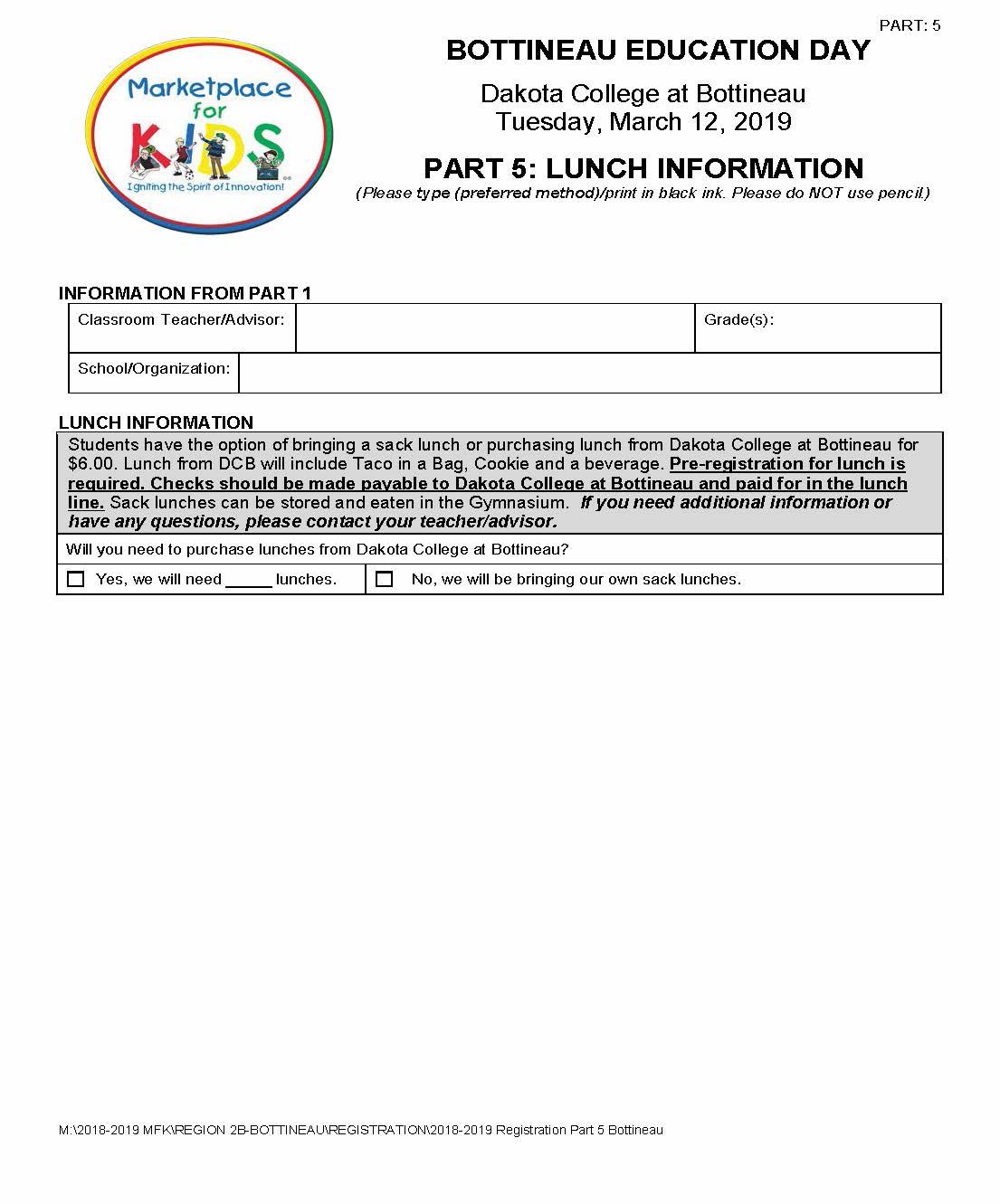 Bottineau Registration Part 5